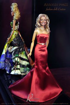 https://flic.kr/p/CNn3oC | Red Obsession | Black Label Barbie of Farrah Fawcett as restyled and repainted by Noel Cruz also in the background is a repainted and restyled RuPaul.  Noel repainted Jason Wu's RuPAUL for www.myfarrah.com.   Farrah and RuPaul are wearing an Antonio Realli Fashion Butterfly a Fashion Royalty (FR2) designer on eBay at www.ebay.com/usr/antoniorealli?_trksid=p2047675.l2559 and you can order fashions directly from his web site at www.antoniorealli.com.   Antonio is on…