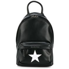 Givenchy Givenchy Star-Printed Nano Backpack (17.289.860 IDR) ❤ liked on Polyvore featuring bags, backpacks, black, daypack bag, backpack bags, logo backpacks, givenchy backpack and givenchy
