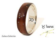 Walnut Wood Ring Diamonds Gold and Sterling by ViademonteJewelry Diamond Rings, Gemstone Rings, Diamonds And Gold, Wood Rings, Walnut Wood, Gemstones, Wings, Dreams, Jewelry