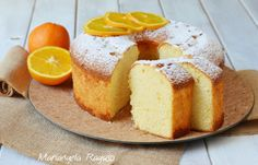 Chiffon cake all'arancia Chiffon Cake, Cornbread, Ethnic Recipes, Food, Millet Bread, Essen, Meals, Yemek, Corn Bread