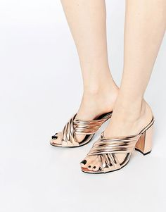 finest selection c7550 51eaf Daisy Street Mule Heeled Sandals on ShopStyle Asos Shoes, Heeled Sandals,  Heeled Mules,