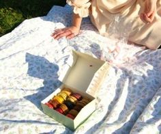 macaroon picnic Macaroons, Picnic Blanket, Outdoor Blanket, Pasta Noodles, Macaroni, Macarons, Almond Cakes
