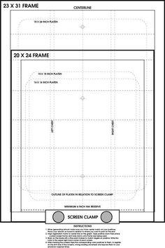 Screen Printing Pre Registration Template Poster Register Film Positves Easily | eBay