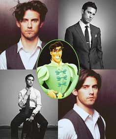 Milo Ventimiglia as Prince Naveen. Yes he seems like he would fit....only problem is that he is not black....so yeah technically wouldnt work...