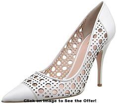kate spade new york Women's Lizette Dress Pump, White, M US White Pumps, Shoe Closet, Pump Shoes, Your Shoes, Casual Shoes, Stiletto Heels, Peep Toe, Kate Spade, Dress Shoes