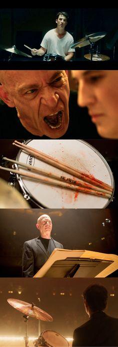 """Miles Teller and J.K. Simmons in """"Whiplash"""" (2014) dir. by Damien Chazelle"""