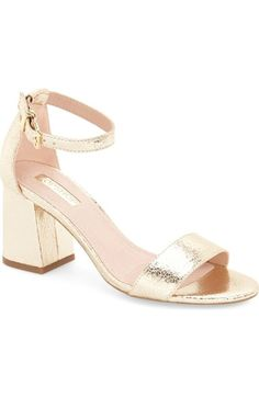 Topshop 'Noodle' Block Heel Sandal (Women) available at #Nordstrom