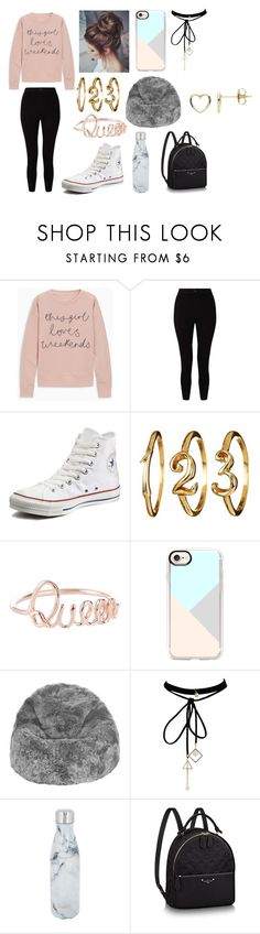 """""""Weekend!!!"""" by kacey2882 ❤ liked on Polyvore featuring Miss Selfridge, Converse, Casetify, A by Amara, WithChic, S'well and Estella Bartlett"""