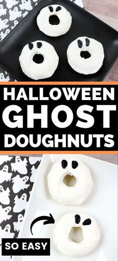 The Rise Of Private Label Brands In The Retail Meals Current Market Everyone Is Sure To Love These Super Cute Ghost Doughnuts This Also, You Will Love How Amazingly Quick And Easy They Were To Make Easy Halloween Food, Easy Halloween Decorations, Halloween Crafts For Kids, Halloween Desserts, Halloween Party Decor, Holidays Halloween, Halloween Treats, Halloween Dinner, Halloween Goodies