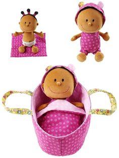 Lilliputiens - Baby Zoe Lalka szmacianka w nosidełku