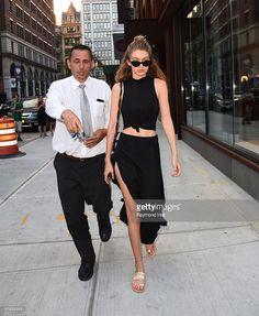 Model Gigi Hadid is seen walking in Soho on July 22, 2016 in New York City.
