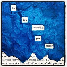 Of Consequence. #makeblackoutpoetry #blackoutpoetry #poetry