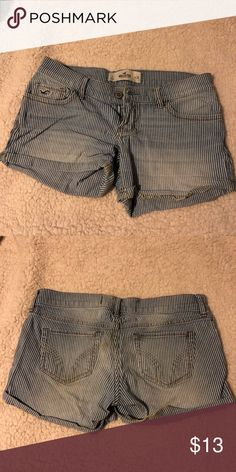 bff9ecc953e6ca Hollister striped jean shorts Worn a dozen times tops! Smoke free home!  Closet purge