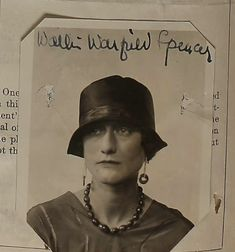 Wallis Simpson 1924    At this time, she was married to Lt. Com. Earl Winfield Spencer,  U.S.N.  She was applying for a passport to travel to the Far East to  join her husband.