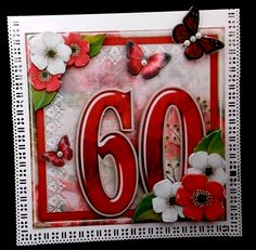 Vintage Birthday 60th Card Topper Kit 1186 by Diane  Hitchcox