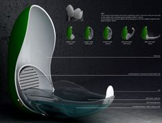 The Tulip is a bath/shower combo designed for small bathrooms. Inspired by tulip blooms, the pod like shape serves as a bath when open and as a shower when closed. In this upright position, the footprint is significantly reduced. This inspired and efficient use of space brings luxury features normally reserved for traditional units into the smallest bathrooms. Underwater jets, massagers and programmable sequences ensure the most relaxing bathing experience. Piotr Pyrtek