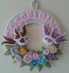 g Jute Crafts, Foam Crafts, Hobbies And Crafts, Diy And Crafts, Crafts For Kids, Felt Flowers, Paper Flowers, Pop Up Flower Cards, Felt Name Banner