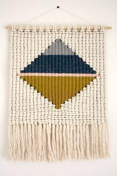 Macrame Weaving Wall Hanging / Large diamond by KateAndFeather
