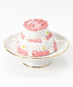 The Queen's Treasures Rose Cake Plate & Two-Tier Party Cake for 18'' Doll. Includes cake and cake plate $8.99