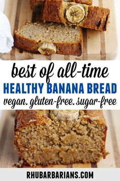 This is the best recipe for healthy vegan oat flour banana bread! Super moist gluten free banana bread with no refined sugar and dairy free. Click over to see how I decorate the top with bananas! Banana Bread Almond Flour, Dairy Free Banana Bread, Oatmeal Banana Bread, Sugar Free Banana Bread, Sugar Free Vegan, Vegan Banana Bread Healthy, Gluten Free Oat Bread, Super Moist Banana Bread, Healthy Sugar