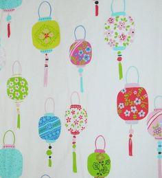 Custom sheets from Etsy - Chinese Lantern fabric