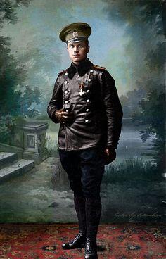 Young russian aviator, WWI
