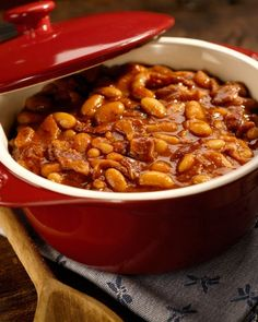Barbecued Baked Beans from the Big Green Egg