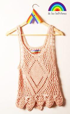 www.delasbolivianas.com  www.facebook.com/delasbolis  100% handmade. Argentina. Crochet Designs, Crochet Patterns, Crochet Fashion, Crochet Clothes, Lana, Beachwear, Knit Crochet, How To Make, How To Wear