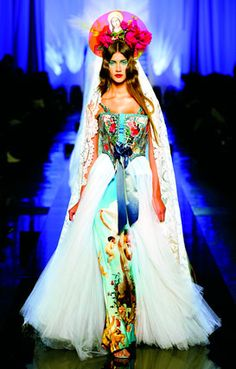 """Apparitions"" gown from Jean Paul Gaultier's ""Virgins (or Madonnas)"" women's haute couture spring-summer collection of 2007."