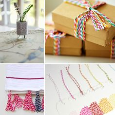 Darling ideas...so addicted to twine!! #twine