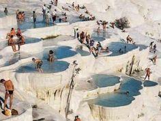 Sacred Pool, Pamukkale, Turkey--I think I'm going here soon!!