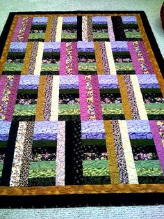 .....strip quilt......great colors