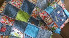 Denim Memories Rag Quilt & Pillow by BlessingsToGrow on Etsy
