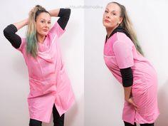 Shiny Dederon Kittel Schürze Vintage Blouse Frisör Apron Overall in Rosa (m94) in Kleidung & Accessoires, Vintage-Mode, Vintage-Mode für Damen | eBay!