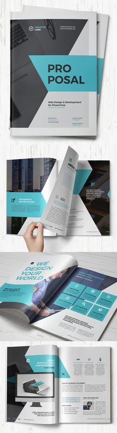 Profesional Proposal Template #annualreport #booklet #brochuredesign #brochuretemplates #fashioncatalog #catalogdesign