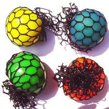 1Pc Novelty Fruity Squishy Mesh Ball Grape Sensory Squeeze Toy Gag Children Gift