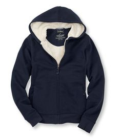 Fleece-Lined Hoodie, Full-Zip: Fleece Tops and Sweatshirts | Free Shipping at L.L.Bean