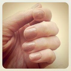 chevron stripe nails DIY by Laur3n