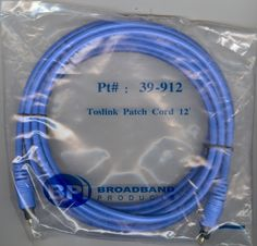 BROADBAND PRODUCTS TOSLINK PATCH CORD 12 FEET # 39-912