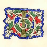 How-to-Guide for Creating an illuminated letter.  by Kathryn Finter - Contemporary Manuscript Illumination