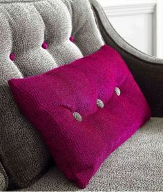 Hot pink and grey chenille !