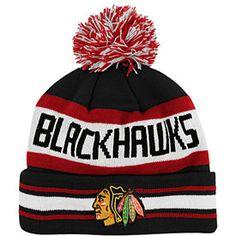 Chicago Blackhawks. I really love poof ball winter hats!