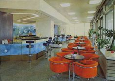 Cafeteria in the Palace of the Republic (the East German government headquarters in East Berlin. Photo taken in 1977.