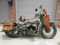 Military Police Motorcycle,  more at www.PoliceHotels.com #harleydavidsonpolice