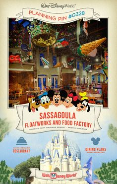 Walt Disney World Planning Pins: Sassagoula Floatworks and Food Factory