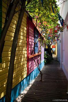 Philipsburg, St. Maarten - Caribbean. The Dutch side of the island.