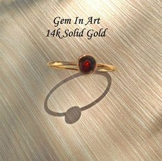14K Solid Gold Stacking RingSolid Gold Dainty Ring14K Gold Dainty Gold Rings, 14k Gold Ring, Midi Rings, Garnet Rings, Make A Gift, Stackable Rings, Personalized Jewelry, Solid Gold, Natural Gemstones