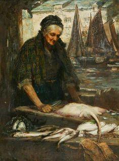 A Cornish Fishwife, by Flora Macdonald Reid