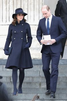 December 14, 2017: The Duke and Duchess of Cambridge and Prince Harry (out of view) attended the Grenfeld Memorial Service, St Paul's Cathedral in London.