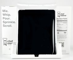Chef Sleeves protect your #iPad while cooking